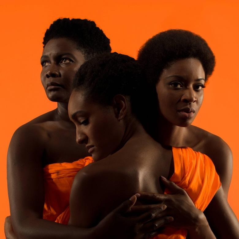 Three Sisters poster: Photo of Sarah Niles, Natalie Simpson and Rachael Ofori