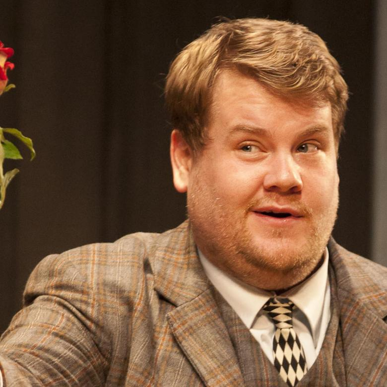 One Man Two Guvnors production photo with James Corden