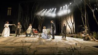 The company and set of Platonov, part of the Young Chekhov trilogy.