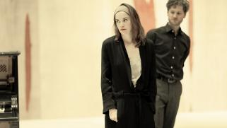 Ruth Wilson and Kyle Soller in rehearsals for Hedda Gabler.