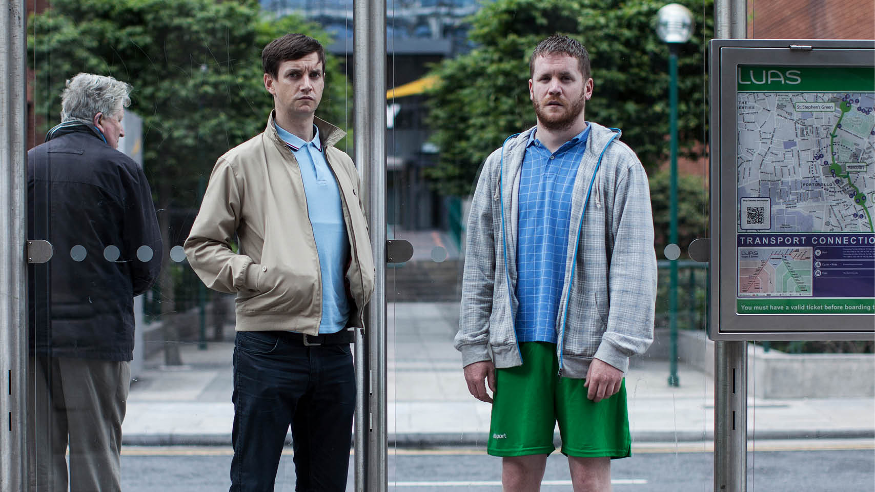 Dublin Oldschool poster of 2 people on a street