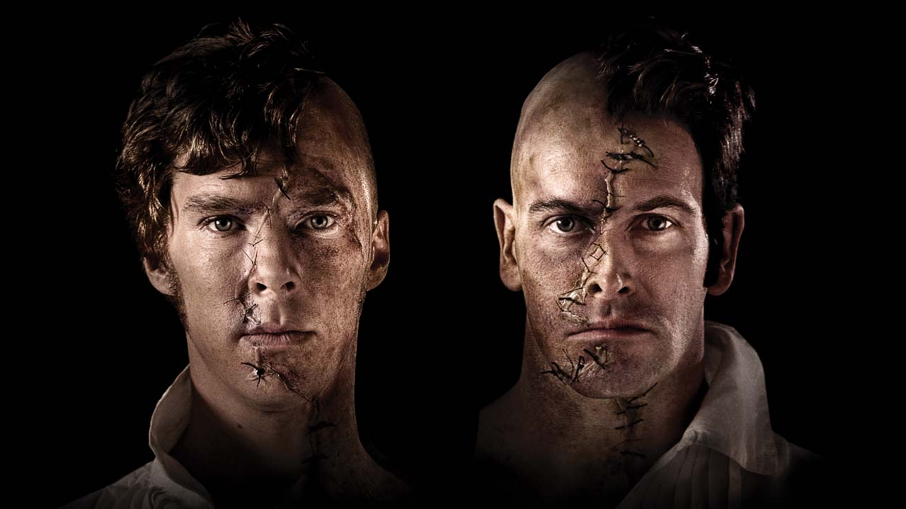 Frankenstein production photo with Benedict Cumberbatch and Jonny Lee Miller