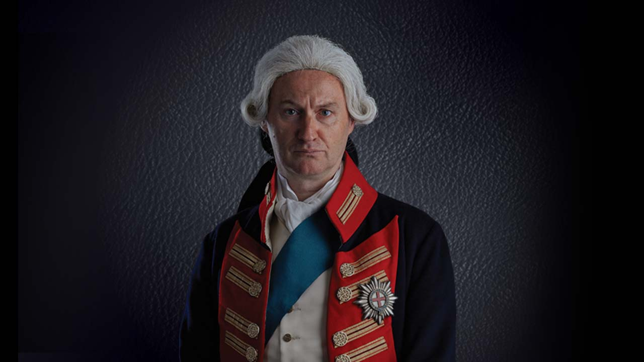 NT at Home The Madness of George III: photo of Mark Gatiss as George III