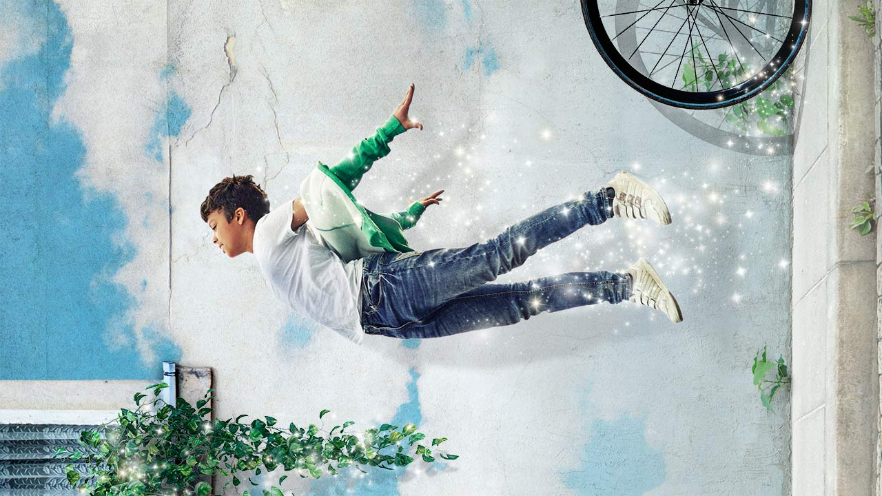 Peter Pan poster with a young boy 'flying'