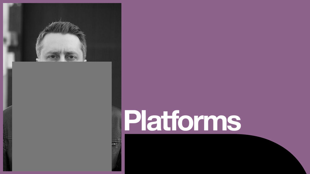 The Majority Platform poster with photo of Rob Drummond