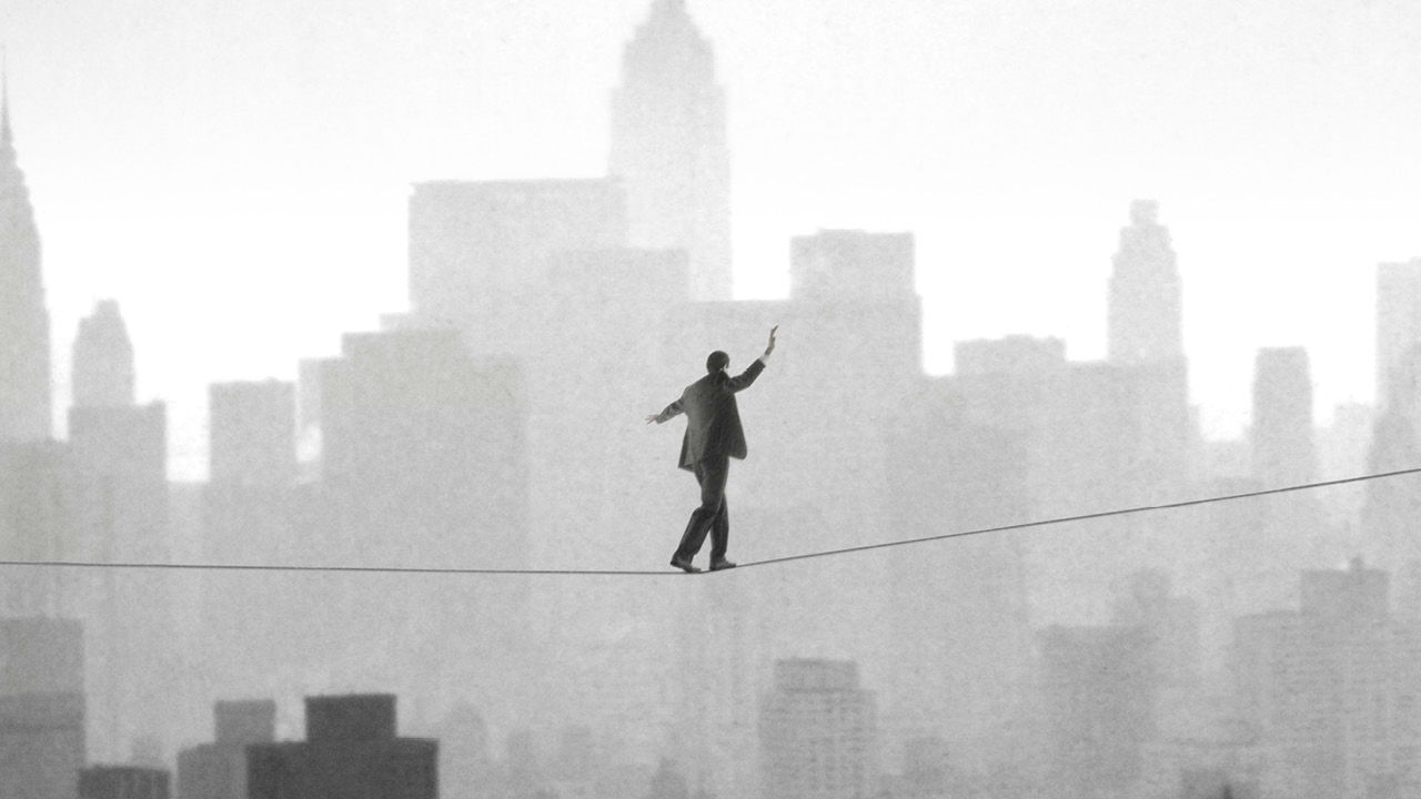 The Lehman Trilogy - a tightrope walker above the New York skyline