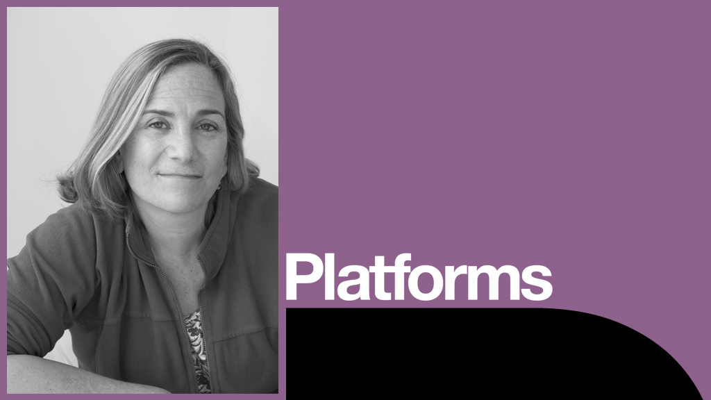 Shakespeare Retold with Tracy Chevalier platform poster with photo of Tracy Chevalier
