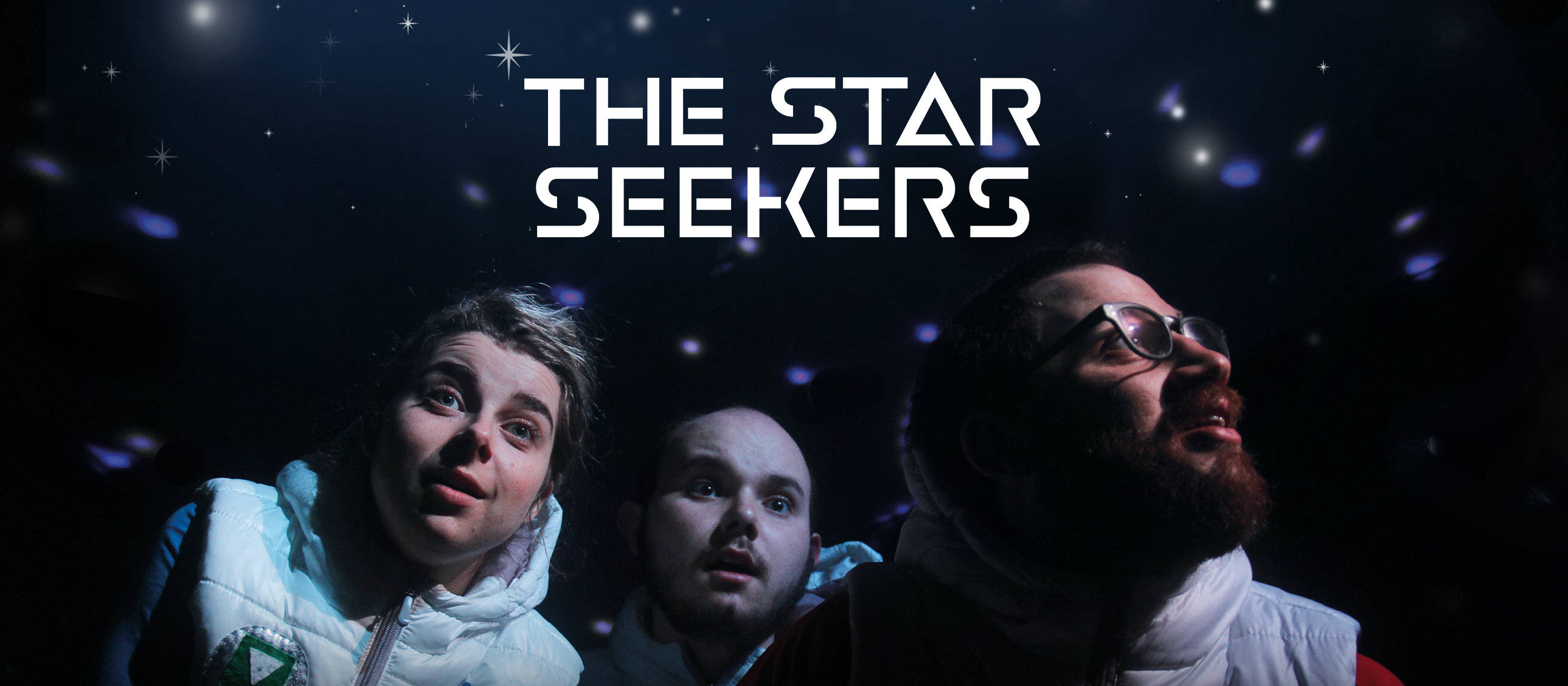 The Star Seekers - photo of the three Star Seekers, Alph, Betty and Gammo